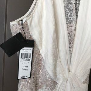 BCBG Floor length off white dress